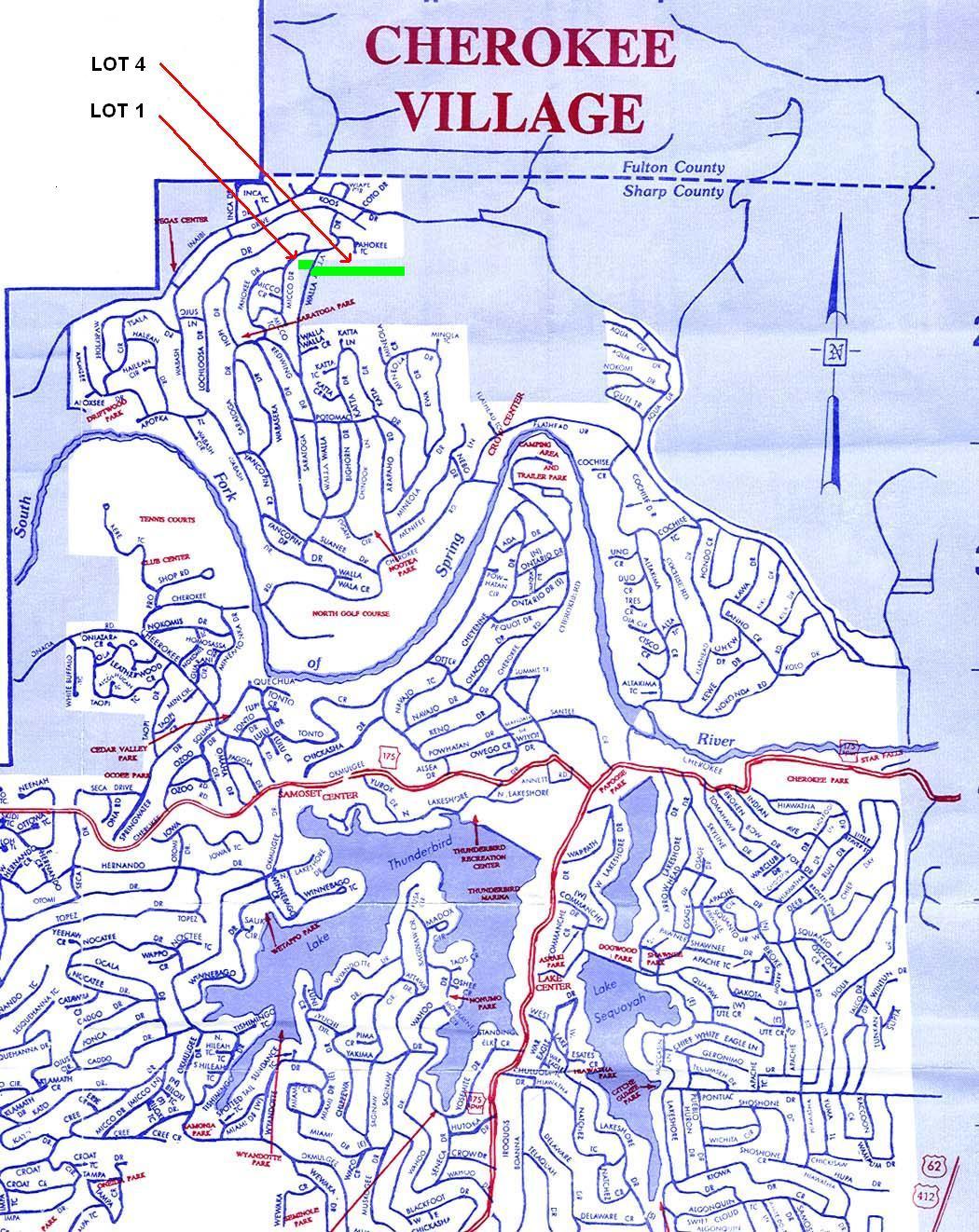 Cherokee Village Arkansas Map | fysiotherapieamstelstreek